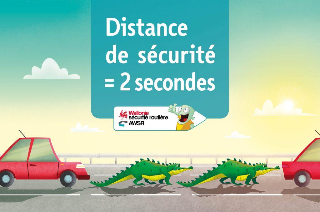 Distance de sécurité Affiche Autoroute Fr