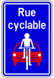 Page Cycliste Rue Cyclable